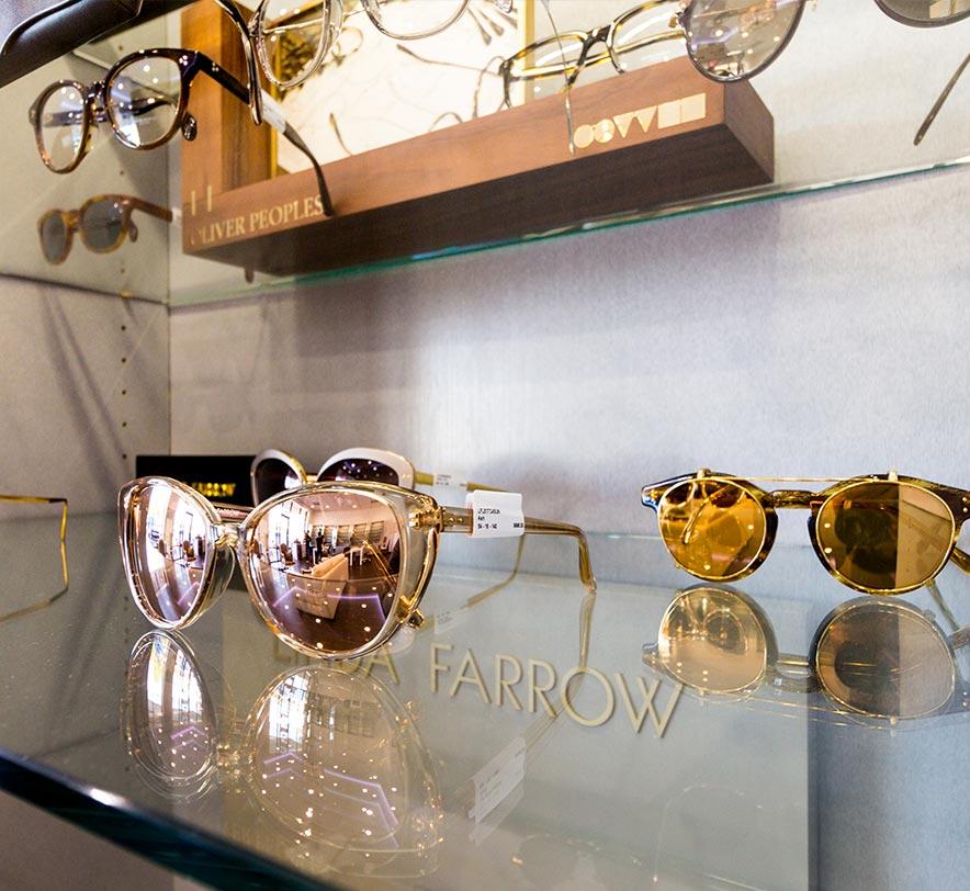 Luxury glasses frames on display at Monocle Premier Eye Care   Designer eyewear including Chanel glasses frames & more