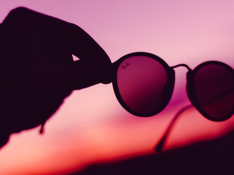 Ray-Ban Glasses at Sunset